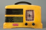 Rare Symphony Catalin Radio 'Split-Grille' in Yellow + Dark Green